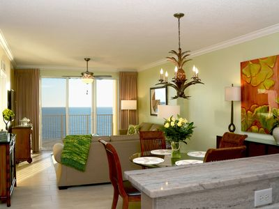 Photo for Gorgeous Tropic Winds Condo - Huge Balcony - Beach Service - Netflix - WiFi