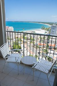 The studio offers the east ocean view, the condo location is oceanfront!!!