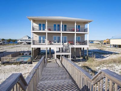 Photo for 9 BR ~ Gulf Front ~ Private Pool ~ Sleeps 28 ~ Sunrays Beach House Gulf Shores