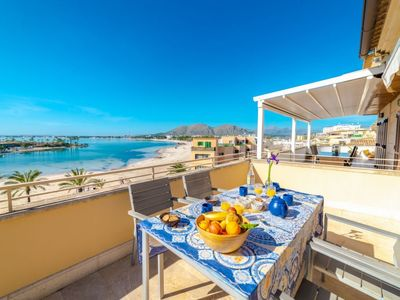 Photo for Port d'Alcudia Apartment, Sleeps 4 with Air Con and Free WiFi