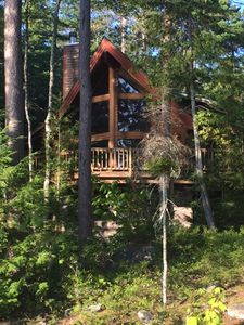 """Photo for Off the Grid Privacy... Green Rental on Sebec's """"Big Lake"""""""