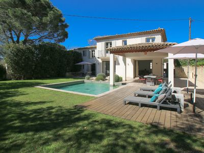 Photo for QUIET VILLA CLOSE TO THE VILLAGE AND THE BEACH. private heated pool.