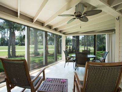 Photo for New Listing!!  Bright golf course home just steps from the Beach!