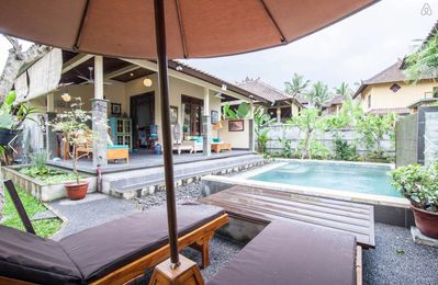 Photo for Ubud Garden Bungalow/Pool/AC/Rice Field