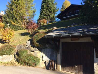 Photo for Traditional Cosy Swiss Chalet with incredible views.