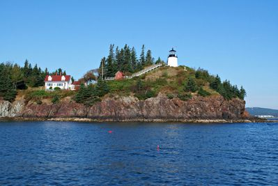 Owls Head Lighthouse - just a stroll down the road from Sea Rose Cottage