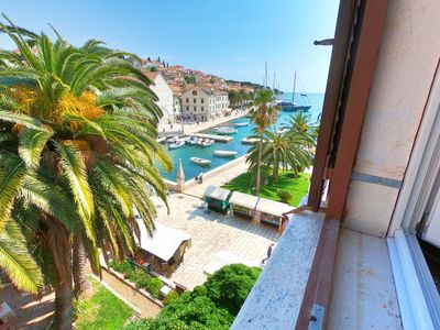 Photo for Seafront apartment in center of historic Hvar town with a great view