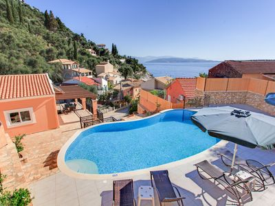 Photo for Villa Konstantinos: Large Private Pool, Walk to Beach, Sea Views, A/C, WiFi