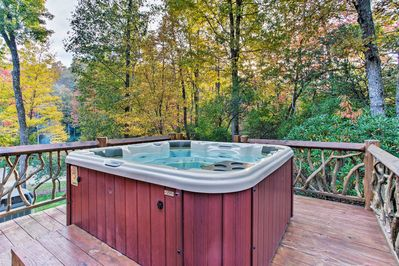 You'll love the amenities including this private hot tub.