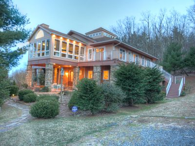 Photo for Sleeps 30, Close to Boone & Blowing Rock, 2 Kitchens, Hot Tub, Pool Table, Fire Pit, Mountain Views