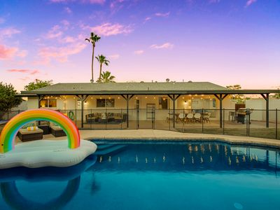 Photo for New Stylish Old Town Home sleeps 13 + Private pool + Casita