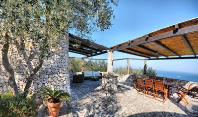 Photo for Villa with tipical trulli and panoramic sea view