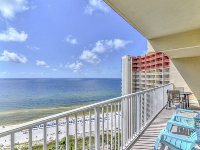 Photo for Waterfront condo w/ shared pool, hot tub, fitness room, & beach access