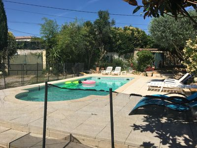 Photo for Fenced garden with 10x4 pool, 85m2 terrace and shaded terrace