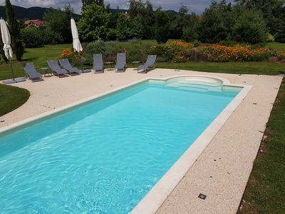 Photo for Cottage Mont courant with heated pool in the heart of the Auvergne