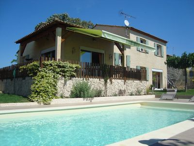 Photo for Mediterranean villa in a small Gardois village