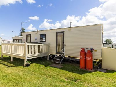 Photo for Affordable caravan for hire at California cliffs holiday park. ref 50049E
