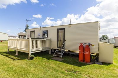 6 berth accommodation with decking