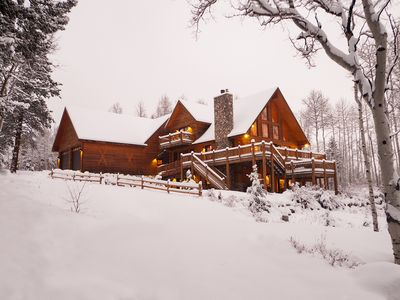 Photo for A High-Mountain Retreat of Rustic Luxury, just above historic Twin Lakes Village