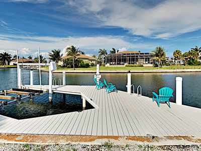 Photo for Waterfront 3BR w/ Private Dock & Enclosed Lanai - Near Residence Beach
