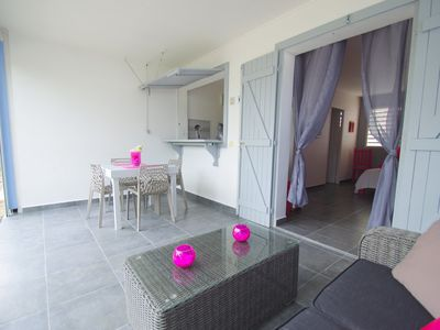 Photo for COCO BUNGALOW the heart of a small residence close to the beach