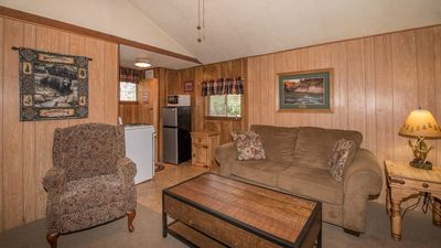 "Photo for Canyon Cabins - ""Cub ""- Cozy Cabin in Upper Canyon - Fireplace & Kitchenette"