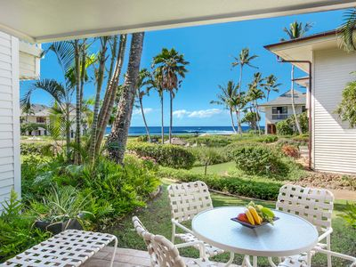 Photo for Poipu Kapili #21: CENTRAL POIPU LOCATION WITH BEDROOM AC & OCEAN VIEWS!