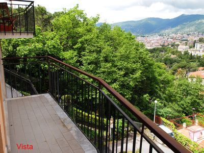 Photo for Rapallo apartment with sea view and hills