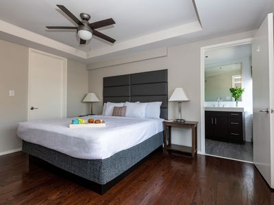 Photo for At the heart of the arts in this chic apt in downtown Dallas