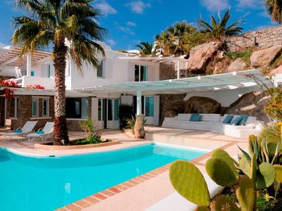 Photo for Luxury Villa Nava Mykonos 4 BE 4 BA with Private Pool, Up to 8 Guests in the south of the Island 80 meters from the sea front with magnificent views,