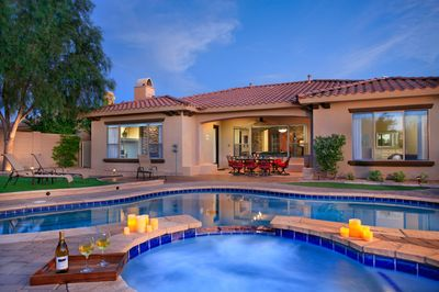 Expansive patio and back yard.