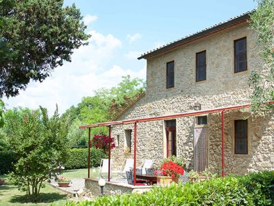 Photo for quiet panoramic location with pool, 3 double rooms, 3 bathrooms, kitchen, terrace, private garden