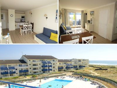 Photo for Apartment 4 people, shared outdoor swimming pool, Lacanau Ocean