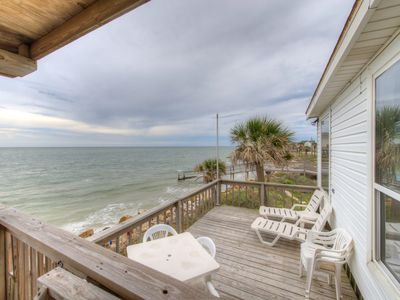 Photo for Oceanfront and dog-friendly cottage with sweeping views and prime location!