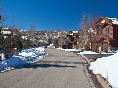 Photo for Beautiful townhome w/ private hot tub, shared pool & mountain views!
