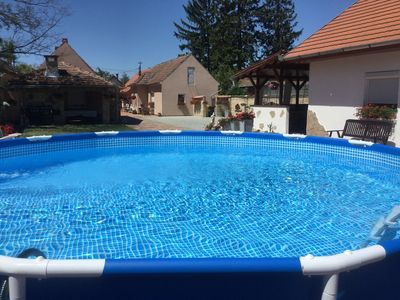 Holiday apartment with outdoor fireplace, washing machine and dishwasher