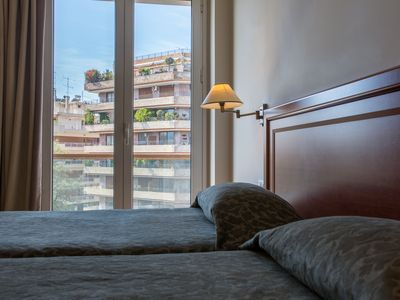 Photo for Superb serviced flat for 2 in the heart of Athens with view