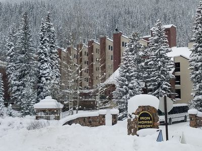Photo for Cozy, CLEAN Ski-in Ski-Out 5TH Floor Penthouse at Iron Horse