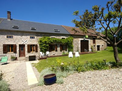 Photo for House with large garden and terrace. Near Dun-les-Places.