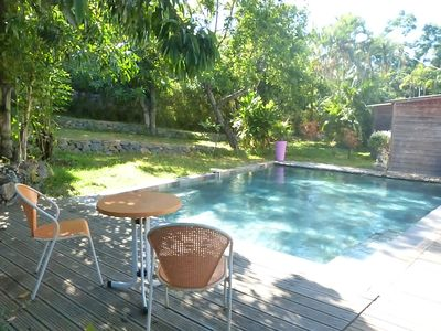 Photo for Private heated pool villa not overlooked