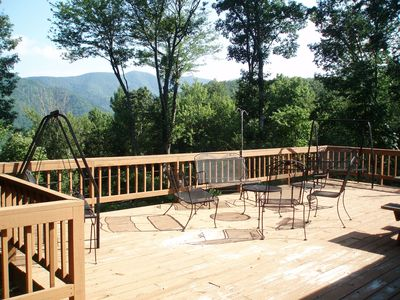 Mountain view from spacious oversized back deck
