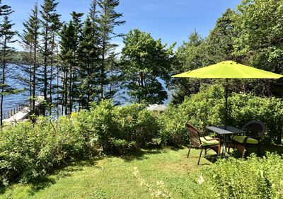 This picture is taken from your deck. The salt water is just 75' from your door.