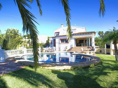 Photo for Beautiful private villa for 10 guests with private pool, WIFI, A/C, TV and parking