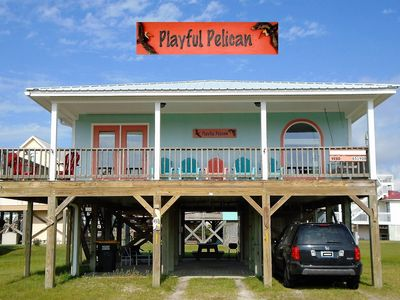 Photo for Playful Pelican - 2 BR / 2BA, Pet Friendly, Uncrowded White Sand Beaches