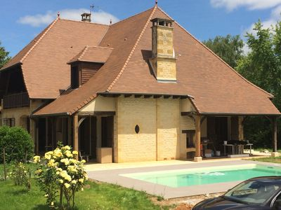 Photo for Traditional House of Sarlat with swimming pool. BBQ and sun terrace.
