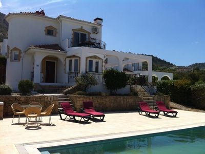 Photo for Tranquil villa, breathtaking sea and mountain views