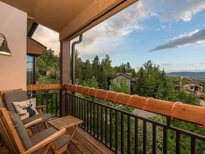 Photo for Penthouse Condo w/ Gondola Views | Private Balcony | Steps to Slopes | Hot Tub!