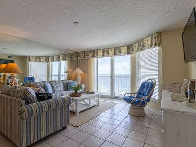 Photo for Pools, Beach til your heart's content in this Oceanfront Cherry Grove condo!