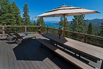 500+ sf deck overlooking Lake Tahoe