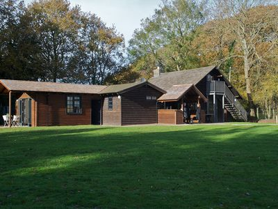Photo for A Stunning Log Cabin With Private Grounds Nestled Into The Natural Woodland